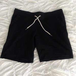 Black Jersey Knit Short